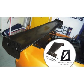 Exige V6 Carbon Fibre High Downforce Rear Wing (Clamshell Mounted)